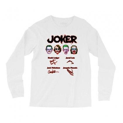 Jokers Signatures Funny Long Sleeve Shirts Designed By Meganphoebe