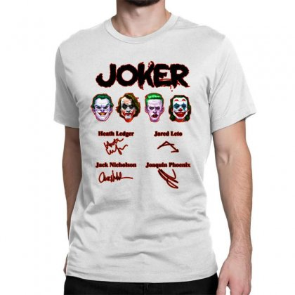 Jokers Signatures Funny Classic T-shirt Designed By Meganphoebe