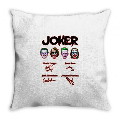 Jokers Signatures Funny Throw Pillow Designed By Meganphoebe