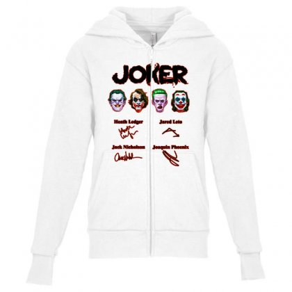 Jokers Signatures Funny Youth Zipper Hoodie Designed By Meganphoebe