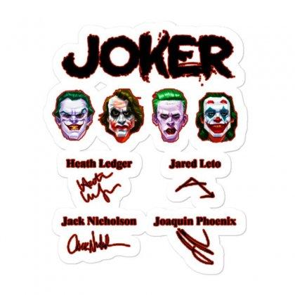 Jokers Signatures Funny Sticker Designed By Meganphoebe