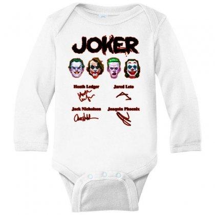 Jokers Signatures Funny Long Sleeve Baby Bodysuit Designed By Meganphoebe
