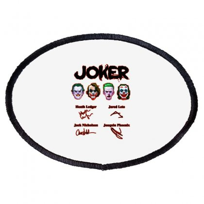 Jokers Signatures Funny Oval Patch Designed By Meganphoebe