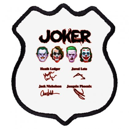 Jokers Signatures Funny Shield Patch Designed By Meganphoebe