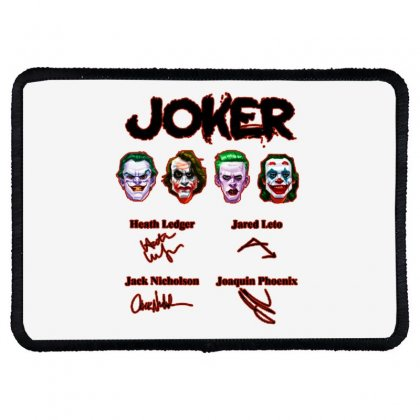 Jokers Signatures Funny Rectangle Patch Designed By Meganphoebe