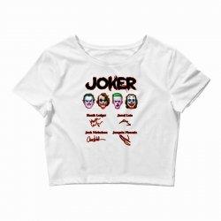 jokers signatures funny Crop Top | Artistshot