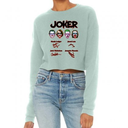 Jokers Signatures Funny Cropped Sweater Designed By Meganphoebe