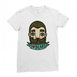 i love beard funny Ladies Fitted T-Shirt | Artistshot
