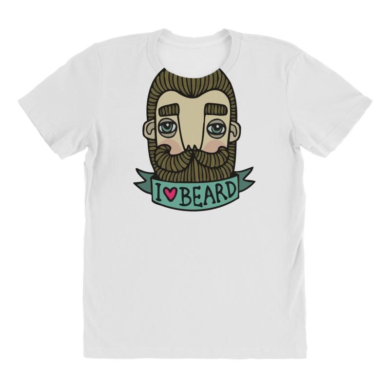 I Love Beard Funny All Over Women's T-shirt | Artistshot