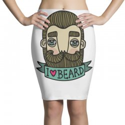 i love beard funny Pencil Skirts | Artistshot