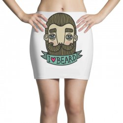 i love beard funny Mini Skirts | Artistshot