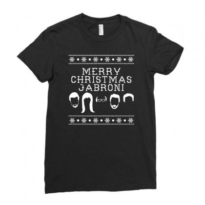 Merry Christmas Jabroni Ugly Ladies Fitted T-shirt Designed By Meganphoebe