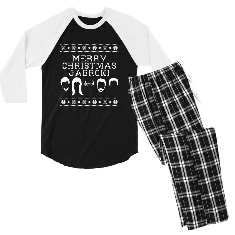 Merry Christmas Jabroni Ugly Men's 3/4 Sleeve Pajama Set | Artistshot