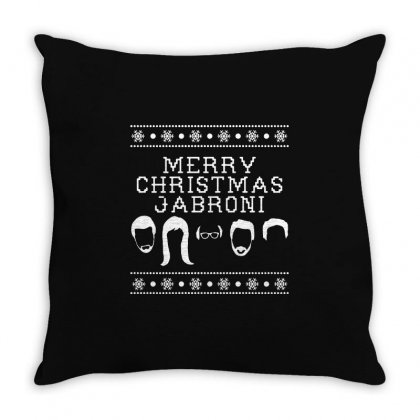 Merry Christmas Jabroni Ugly Throw Pillow Designed By Meganphoebe