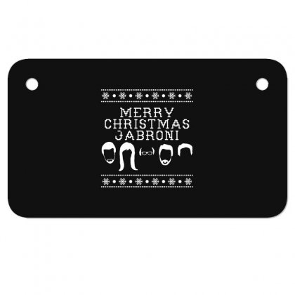 Merry Christmas Jabroni Ugly Motorcycle License Plate Designed By Meganphoebe