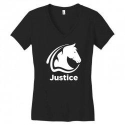 justice animal Women's V-Neck T-Shirt | Artistshot