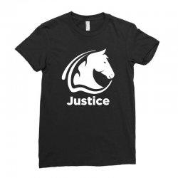 justice animal Ladies Fitted T-Shirt | Artistshot