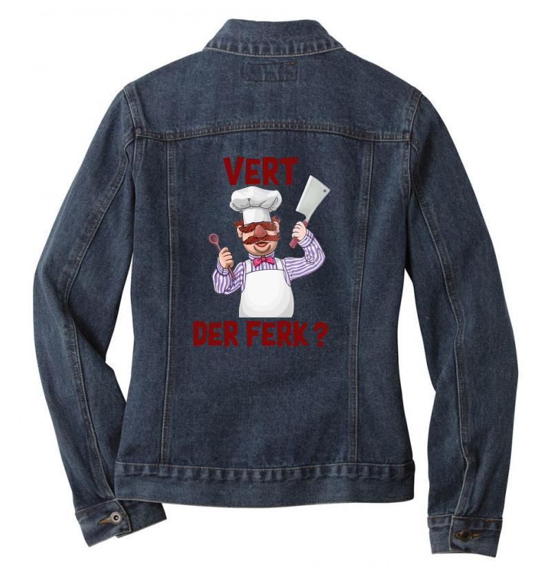 Vert Der Ferk Cook Ladies Denim Jacket | Artistshot