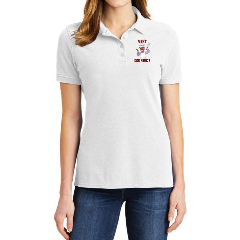 Vert Der Ferk Cook Ladies Polo Shirt   Artistshot