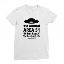 1st annual area si 5k fun Ladies Fitted T-Shirt | Artistshot