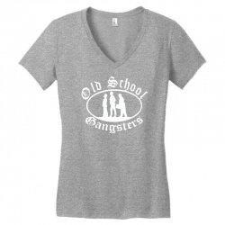 old school gangsters Women's V-Neck T-Shirt   Artistshot