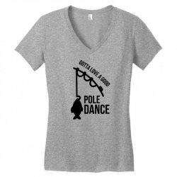 pole dance Women's V-Neck T-Shirt   Artistshot