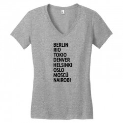 la casa de papel Women's V-Neck T-Shirt   Artistshot