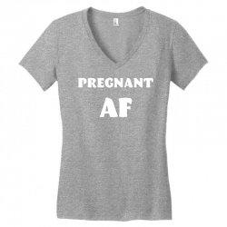 pregnant af Women's V-Neck T-Shirt | Artistshot