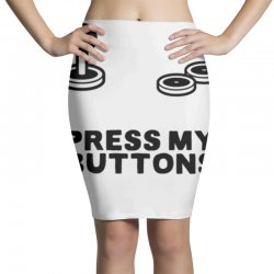 press my buttons Pencil Skirts   Artistshot