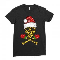 SANTA SKULL LEOPARD CHRISTMAS Ladies Fitted T-Shirt | Artistshot
