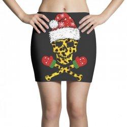 SANTA SKULL LEOPARD CHRISTMAS Mini Skirts | Artistshot
