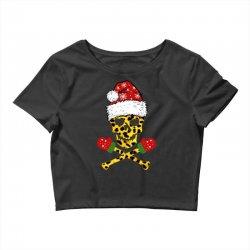 SANTA SKULL LEOPARD CHRISTMAS Crop Top | Artistshot