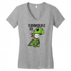 purranysaurus rex Women's V-Neck T-Shirt   Artistshot