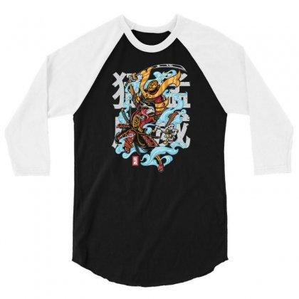 Rage Raccoon 3/4 Sleeve Shirt Designed By Daudart