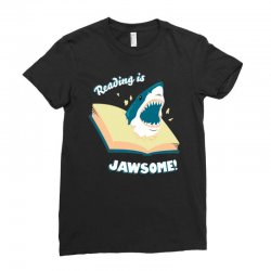 reading is jawsome Ladies Fitted T-Shirt | Artistshot