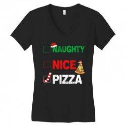 Naughty Nice Pizza Women's V-Neck T-Shirt | Artistshot