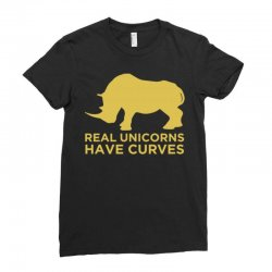 real unicorns have curves Ladies Fitted T-Shirt   Artistshot