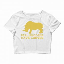 real unicorns have curves Crop Top   Artistshot