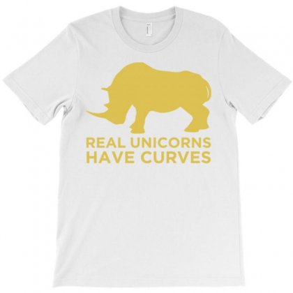 Real Unicorns Have Curves T-shirt Designed By Daudart