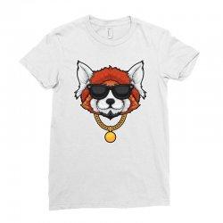 red panda hip hop Ladies Fitted T-Shirt | Artistshot