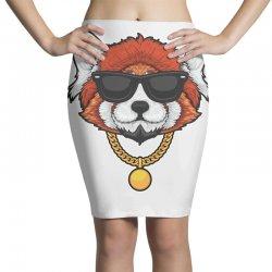 red panda hip hop Pencil Skirts | Artistshot
