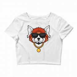 red panda hip hop Crop Top | Artistshot