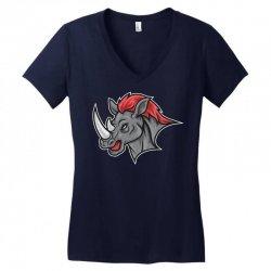 rhino head Women's V-Neck T-Shirt | Artistshot