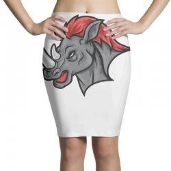 rhino head Pencil Skirts | Artistshot