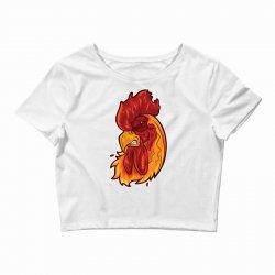 rooster head 1 Crop Top | Artistshot