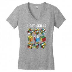 rubik skills Women's V-Neck T-Shirt | Artistshot