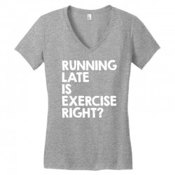running late exercise Women's V-Neck T-Shirt | Artistshot