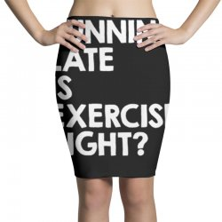running late exercise Pencil Skirts | Artistshot