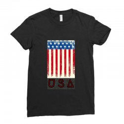 usa flag Ladies Fitted T-Shirt | Artistshot