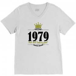 vintage 1979 and still looking good V-Neck Tee | Artistshot